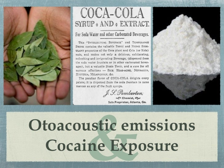 &Otoacoustic emissions  Cocaine Exposure