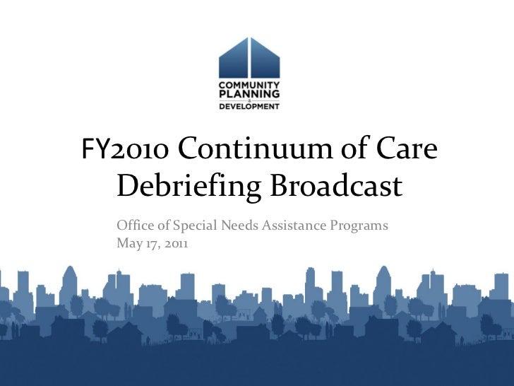 CoC Debrief Broadcast Slides 2010