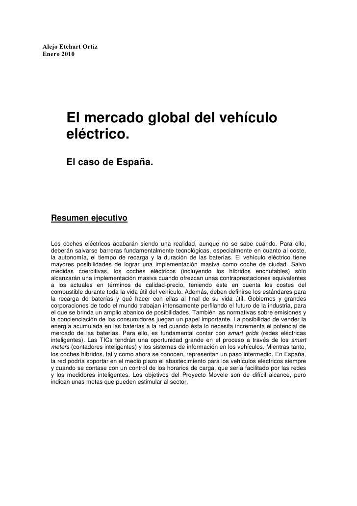 Estudio Vehículos Eléctricos