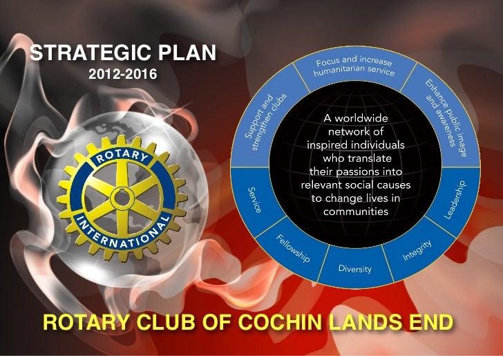 STRATEGIC PLAN    2012-2016ROTARY CLUB OF COCHIN LANDS END