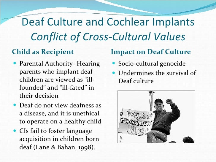 essay on deaf culture Reflections of an asl student:-by scott mather remembering bill's sage advice to accept and use the signs of the local deaf culture you are in.