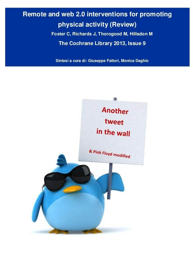 The Cochrane Library:   Web 2.0 & phisical activity