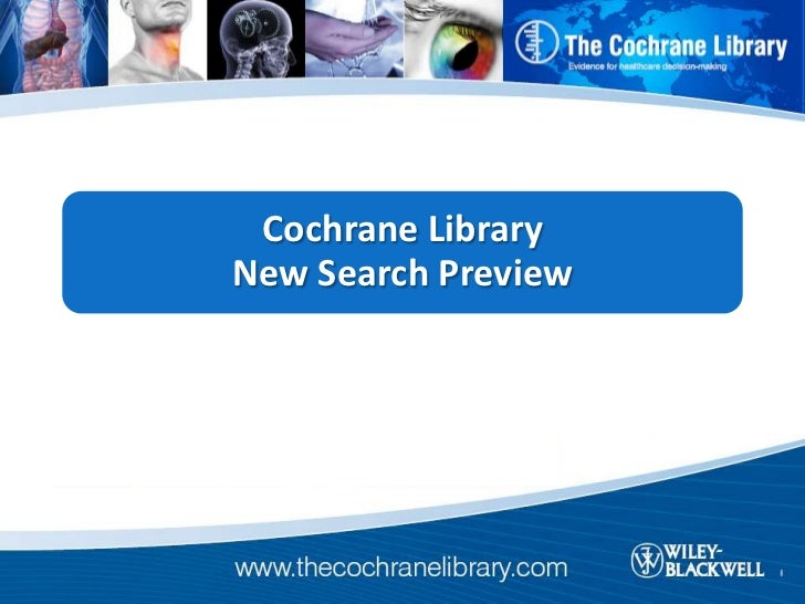 Cochrane LibraryNew Search Preview