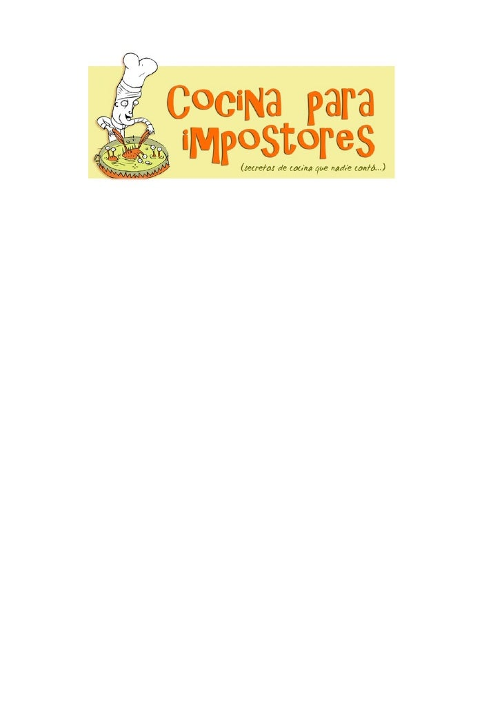 Cocina para impostores[1]