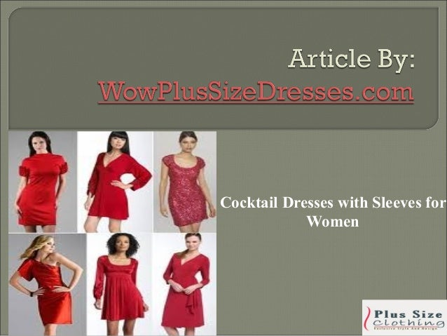 Cocktail Dresses with Sleeves for            Women