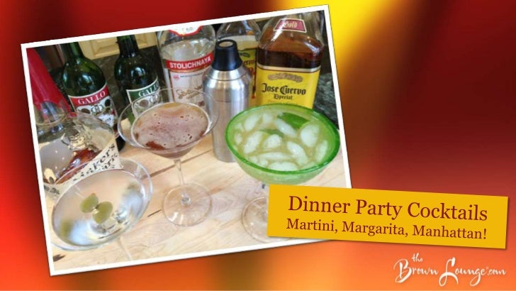 The 3 Ms - Martini, Margarita, and Manhattan