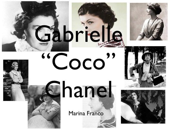 """Gabrielle""""Coco"""" Chanel   Marina Franco"""