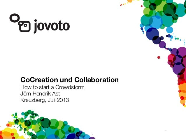 1 CoCreation und Collaboration How to start a Crowdstorm Jörn Hendrik Ast Kreuzberg, Juli 2013