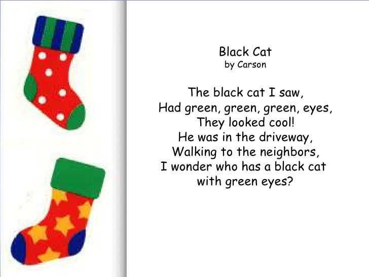 poem analysis the black cat The black cat in holub's poem, then, is not some stupid animal, but a thinking, calculating being that has decided that the man's arguments are inadequate cats are rather know for wandering away from home, and so the cat in the poem does.