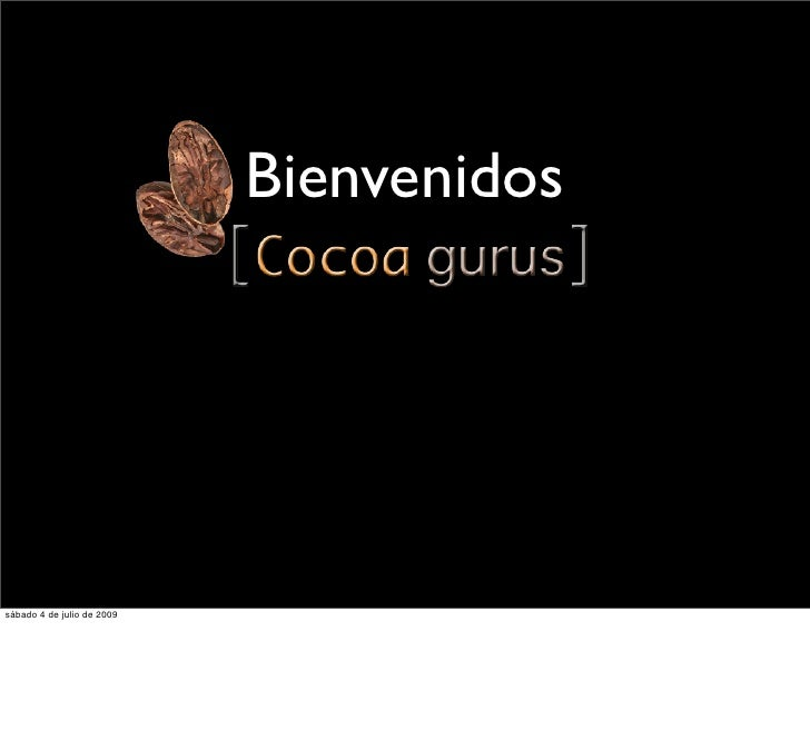 [Cocoa Gurus] Marketing 101