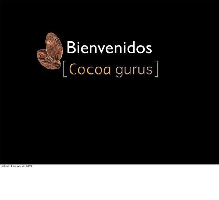 [Cocoa Gurus] Marketing 101