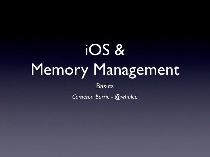 iOS Memory Management Basics