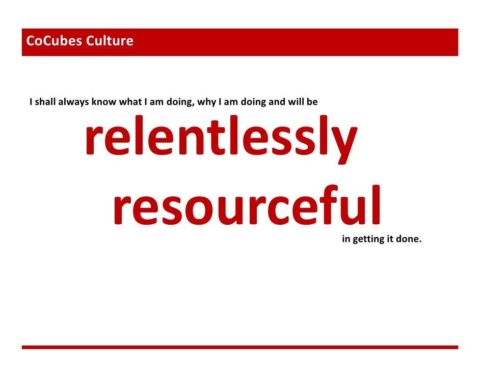 CoCubes Culture