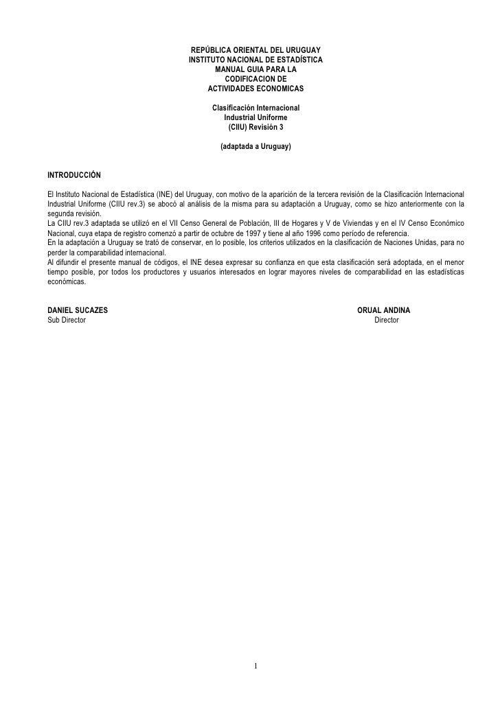 REPÚBLICA ORIENTAL DEL URUGUAY                                                INSTITUTO NACIONAL DE ESTADÍSTICA           ...