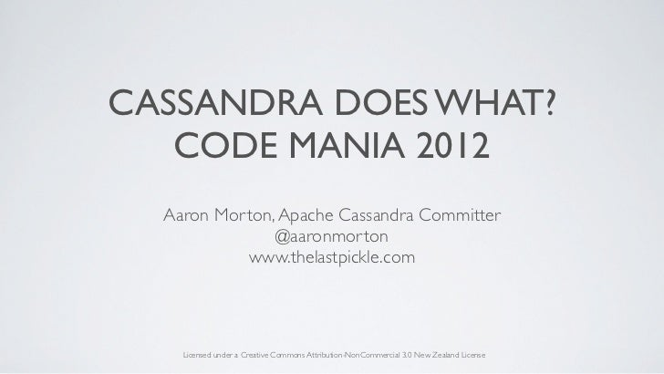 Cassandra does what ? Code Mania 2012