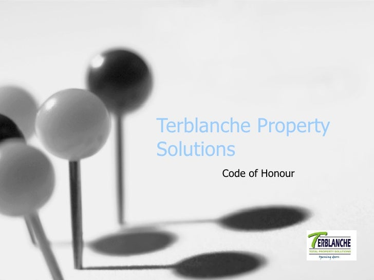 Terblanche Property Solutions Code of Honour