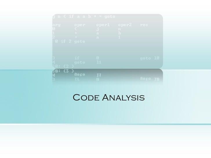 Code Analysis-run time error prediction