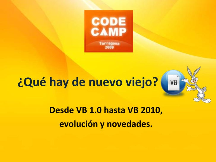 Codecamp 2009   Qué Hay De Nuevo Viejo