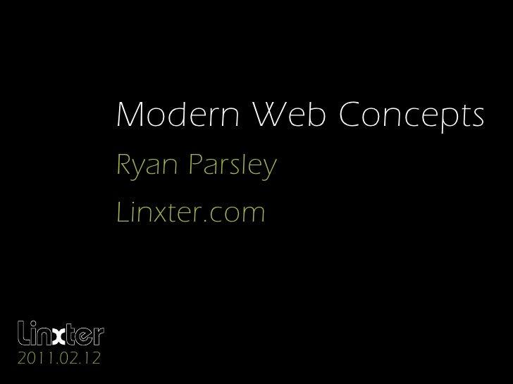 Modern Web Concepts