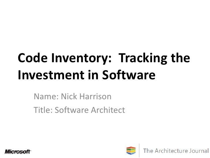 Code Inventory