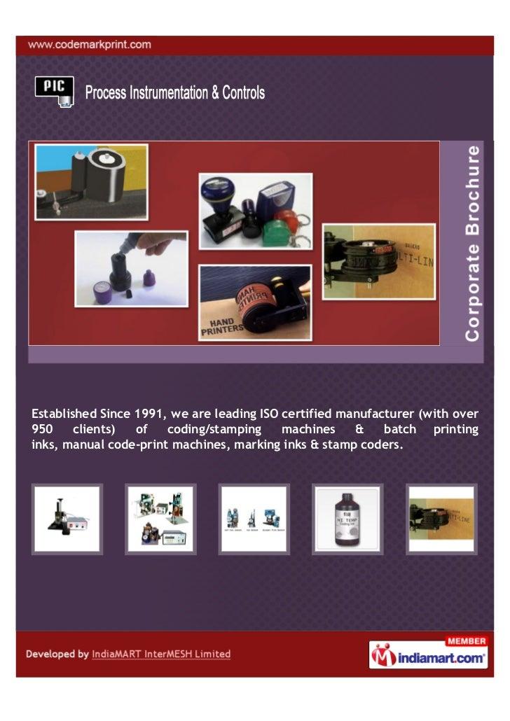 Process Instrumentation & Controls, Vadodra, Coding And Batch Printing Machine