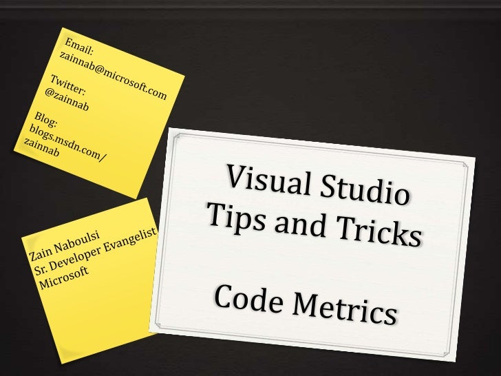 Visual Studio Code Metrics