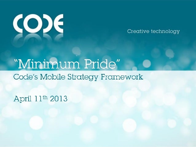 Code mobile strategy framework