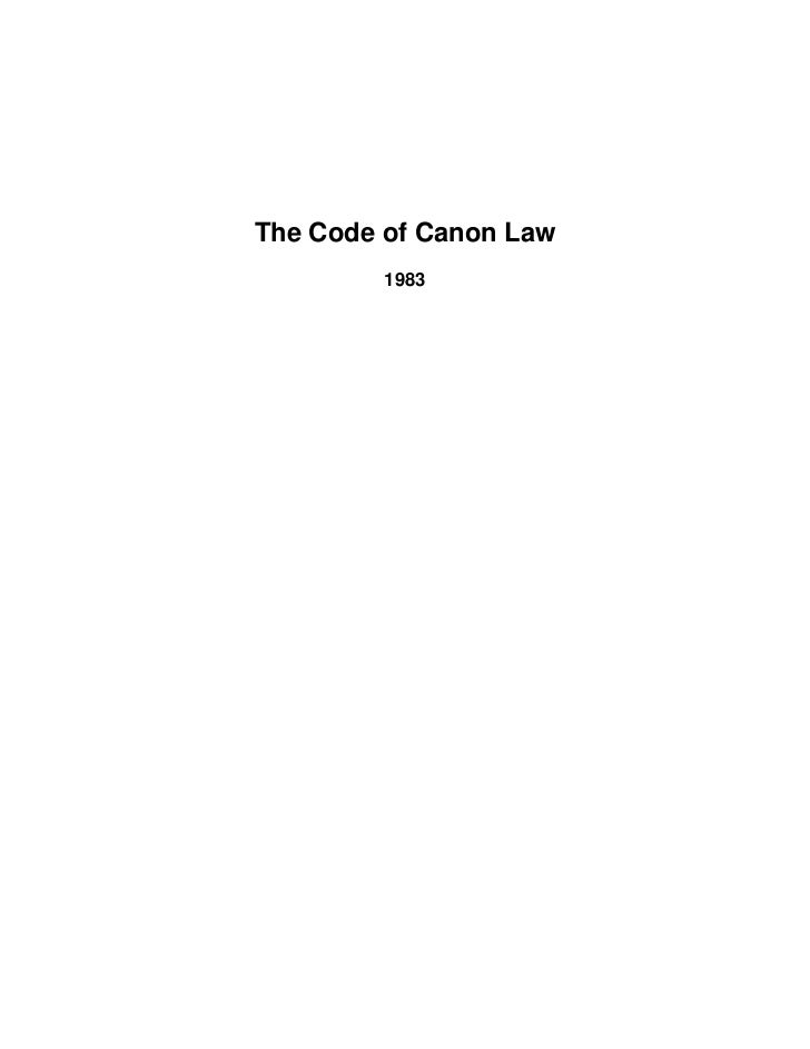 Code of canon law 1983