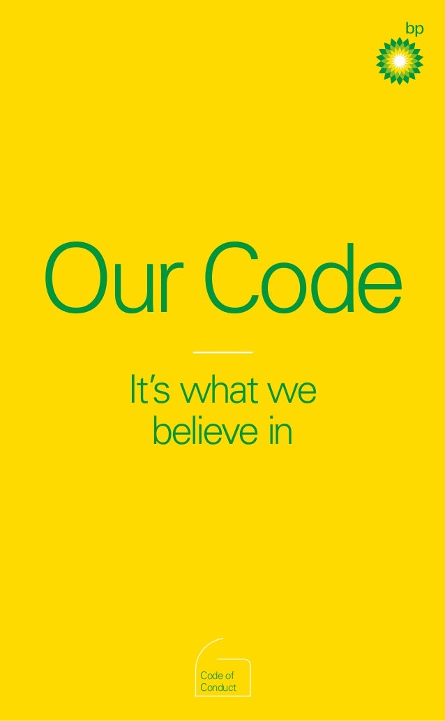 OurCodeIt's what webelieve inWeareBPBPCodeofConductCode ofConduct