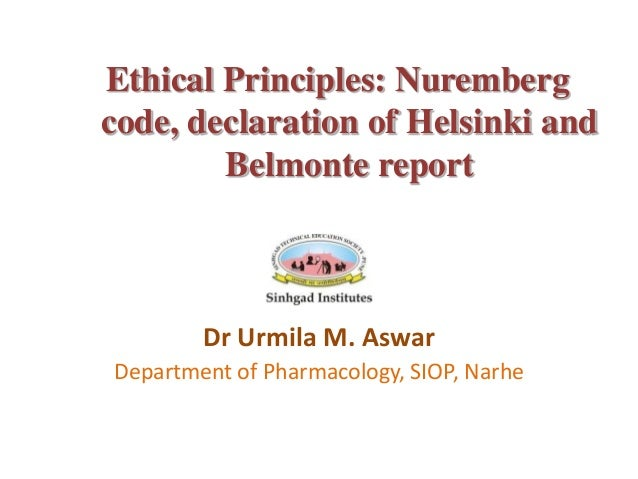 Code of ethics in clinical trial