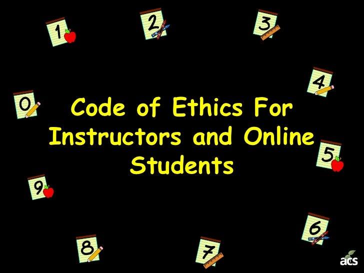Code of ethics presentation