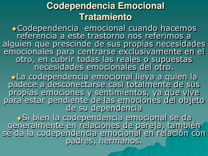Codependencia emocional  tratamiento