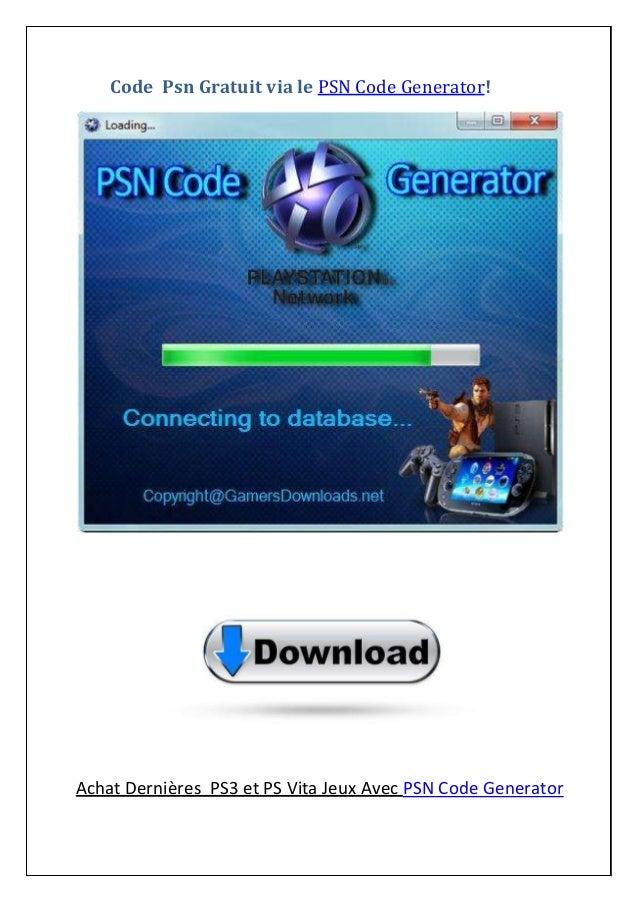 Code Psn Gratuit via le PSN Code Generator! Achat Dernières PS3 et PS Vita Jeux Avec PSN Code Generator