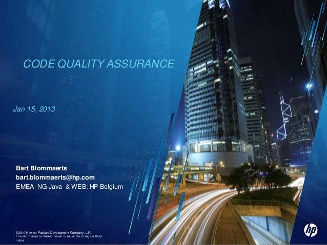 Code Quality Assurance