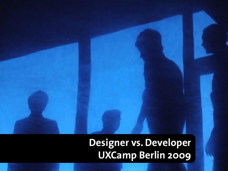 "Designer vs. Developer René Chr. Glembotzky Twitter ""glembotzky"" Kontakt: Xing, Facebook, Poken :-)                       ..."