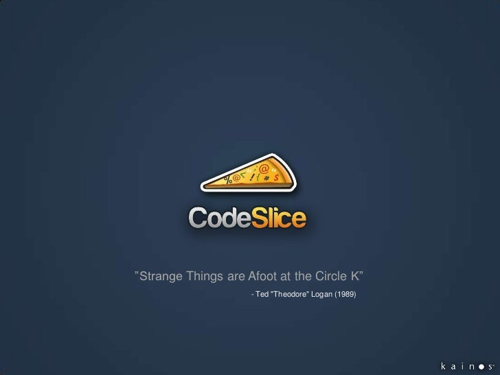 CodeSlice First Meetup