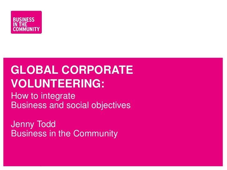 Negocios para la comunidad (Voluntariado Corporativo)