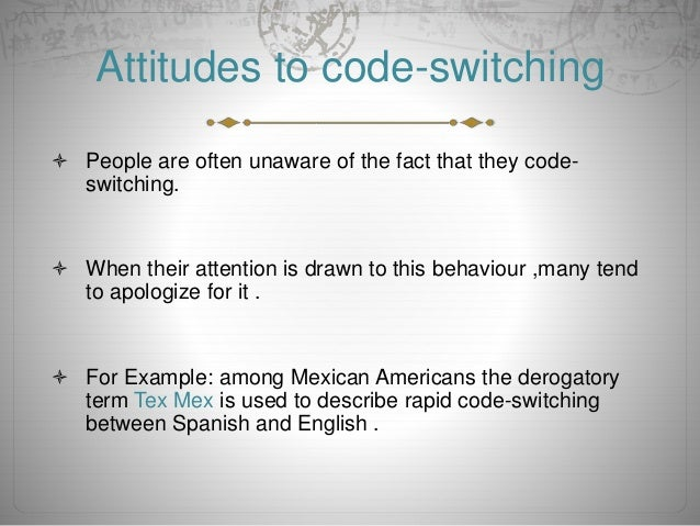 the benefit of code switching essay Why do people code-switch 1 why do people code-switch: a sociolinguistic approach why do people code-switch: a sociolinguistic approach walid m rihane arab open university why do people.
