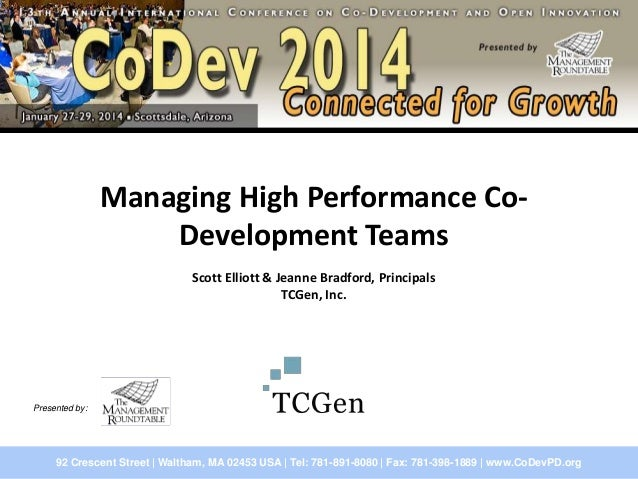 High Performance CoDevelopment Teams - your competitive advantage in the world of Open Innovation