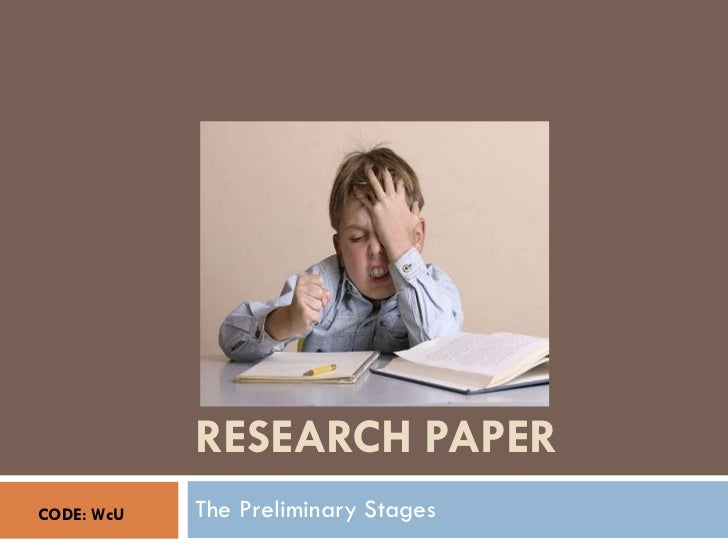 Research Paper: The Preliminary Stages
