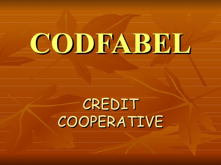 CODFABEL CREDIT COOPERATIVE