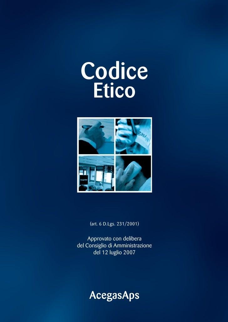 Codice Etico Agegasaps