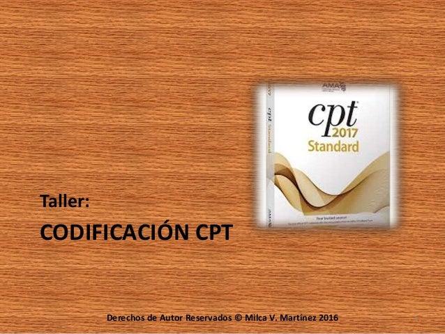 Codificacion CPT 2013