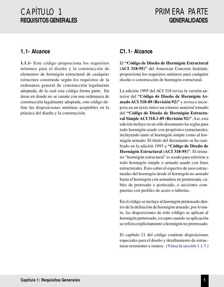 PRIMERA PARTE CAPÍTULO 1              CÓDIGO                                                        GENERALIDADES REQUISIT...