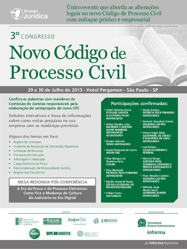 REALIZAÇÃO29 e 30 de Julho de 2013 - Hotel Pergamon - São Paulo - SPDebates interativos e troca de informaçõessobre como e...