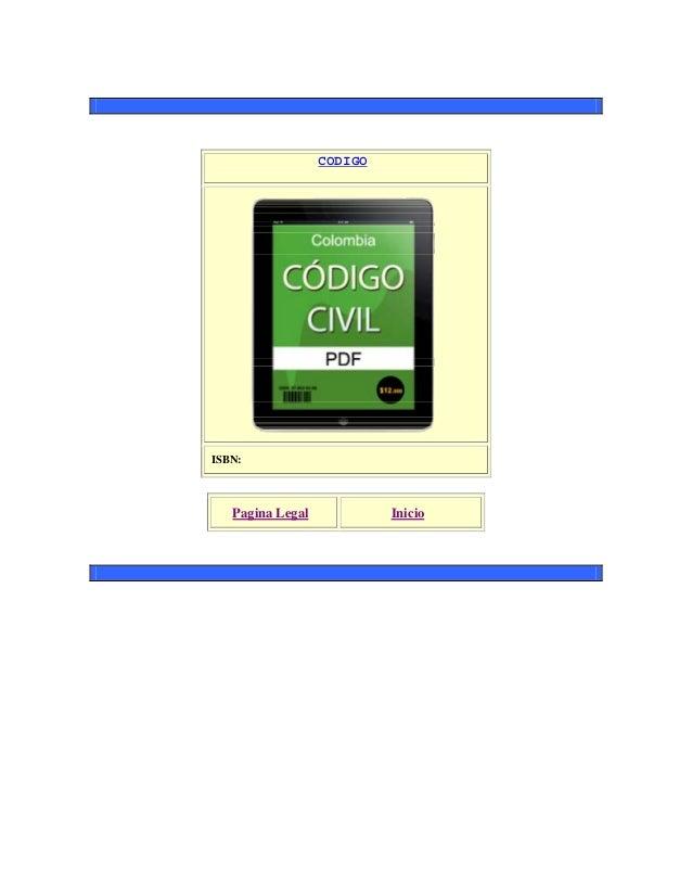 CODIGO ISBN: Pagina Legal Inicio