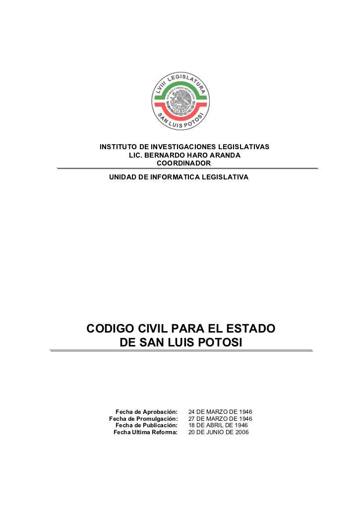 INSTITUTO DE INVESTIGACIONES LEGISLATIVAS        LIC. BERNARDO HARO ARANDA                COORDINADOR   UNIDAD DE INFORMAT...