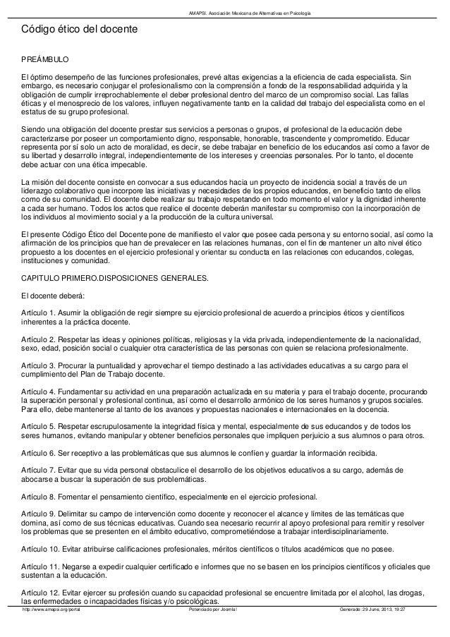 Etica docente pdf