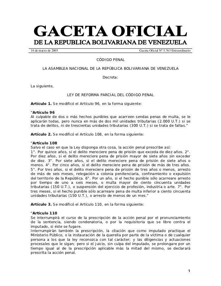 Codigo penal 2005