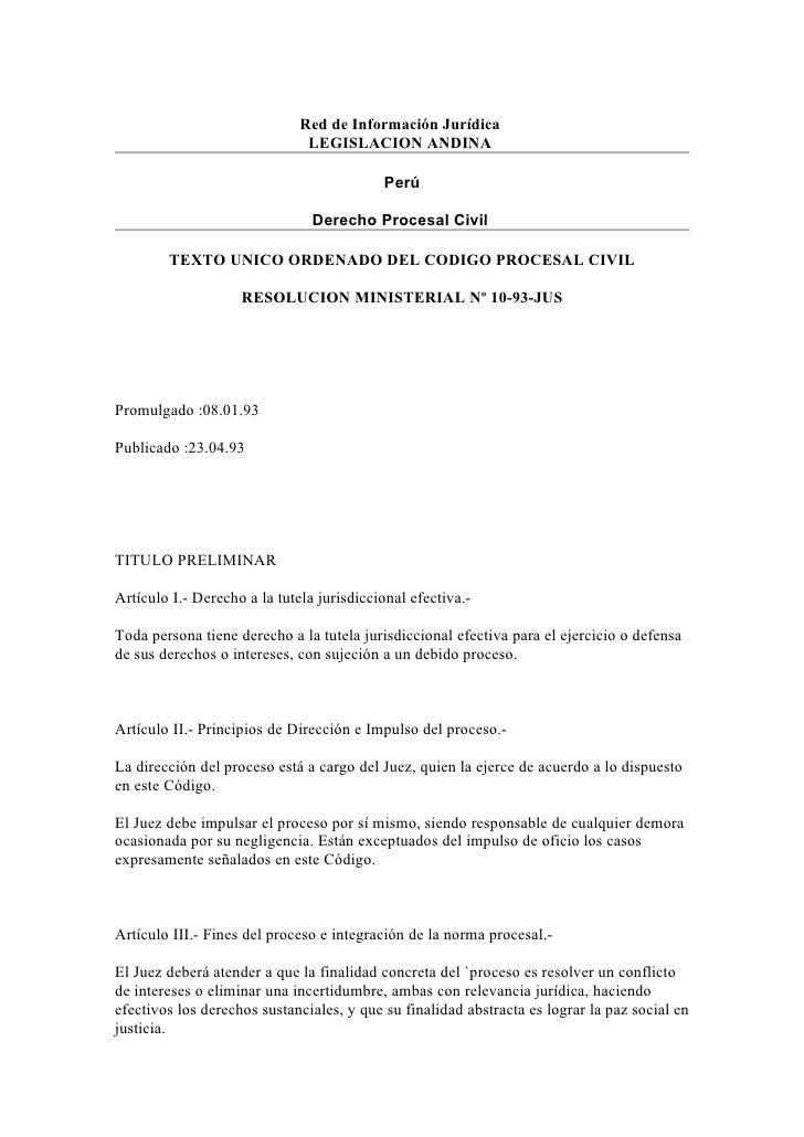 Red de Información Jurídica                                LEGISLACION ANDINA                                             ...
